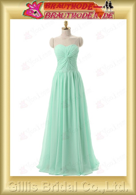 gillis00186 Strapless Gorgeous floor-length Chiffon pleated ruffle Fold bandage strapless backless Open back Simple
