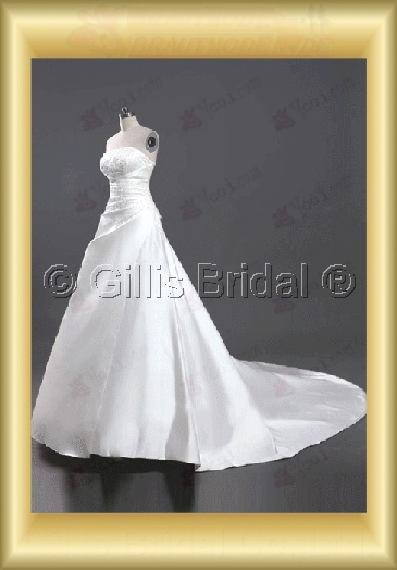 wedding dress bridal gown evening Prom Strapless Exquisite Monarch Royal Beading embroidery 100097