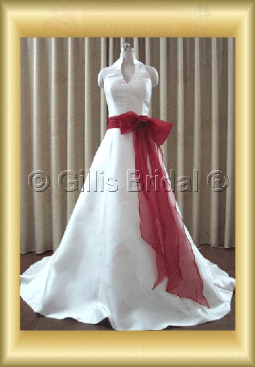 wedding dress bridal gown evening Prom Bowknot Bows Halter Bowknot Bows Halter Monarch Royal Exquisite 100101