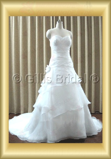 wedding dress bridal gown evening Prom Strapless pleated ruffle Fold strapless Monarch Royal Exquisite 100104