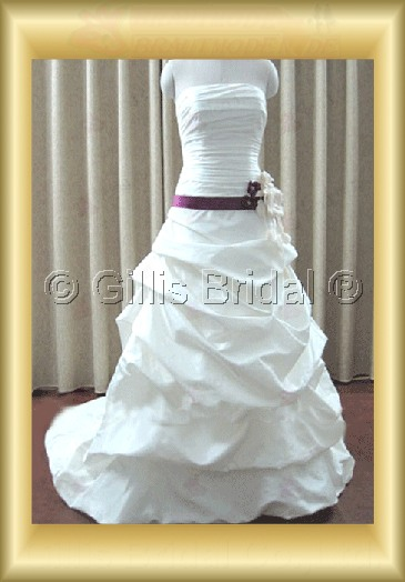 wedding dress bridal gown evening Prom Strapless pleated ruffle Fold Handcraft flowers Handmade Flower Sweep Brush Exquisite 100109