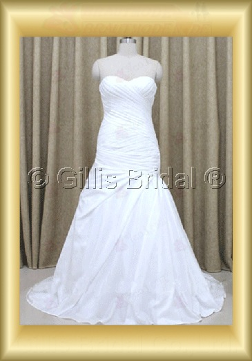 wedding dress bridal gown evening Prom Strapless pleated ruffle Fold strapless Sweep Brush Exquisite 100151