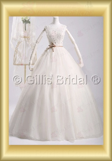 wedding dress bridal gown evening Prom Gorgeous floor-length Beading embroidery Exquisite 100152