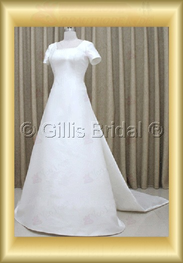wedding dress bridal gown evening Prom sleeve Sweep Brush Exquisite 100158
