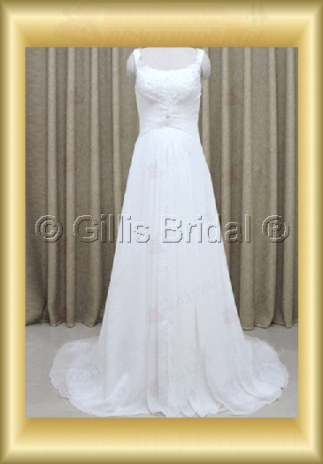 wedding dress bridal gown evening Prom Spaghetti strap pleated ruffle Fold Monarch Royal 100198