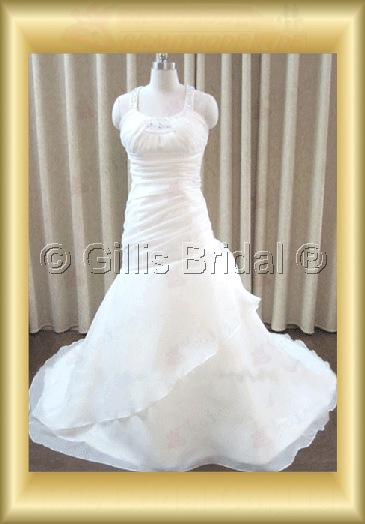 wedding dress bridal gown Beading embroidery pleated ruffle Fold beads Embroidery beaded Beading embroidery Sweep Brush Exquisite 100203