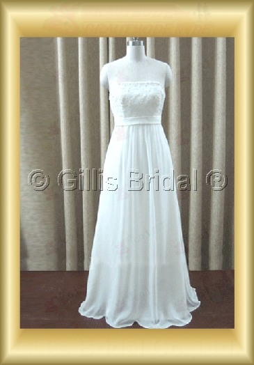 wedding dress bridal gown Strapless Gorgeous floor-length Simple 100210