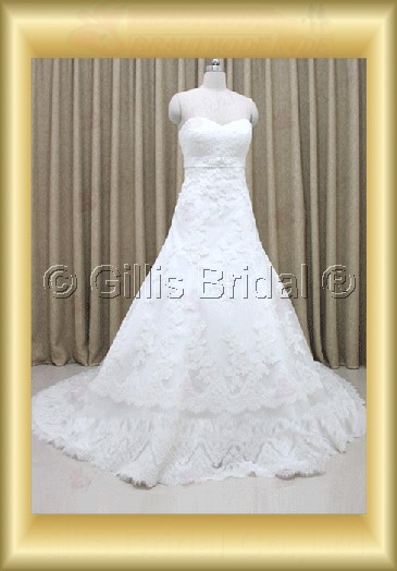 wedding dress bridal gown Alencon lace modest 100216