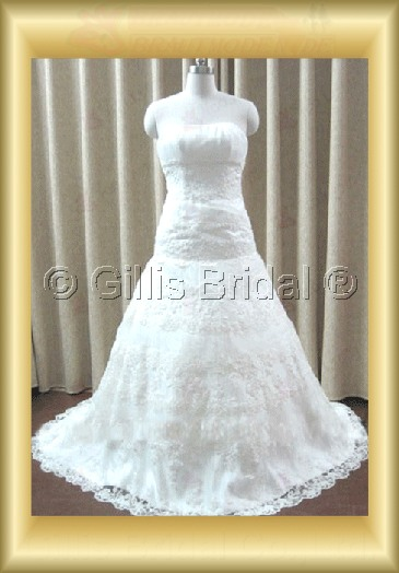 wedding dress bridal gown Alencon lace Exquisite 100218