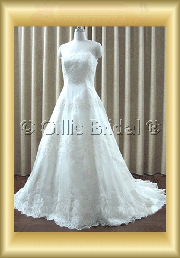 wedding dress bridal gown Alencon lace Exquisite 100219