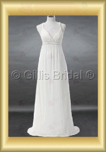 wedding dress bridal gown Spaghetti strap pleated ruffle Fold Exquisite 100221