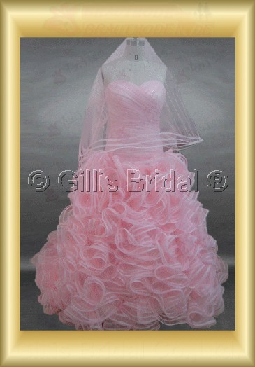 wedding dress bridal gown pleated ruffle Fold Sweep Brush Exquisite 100225