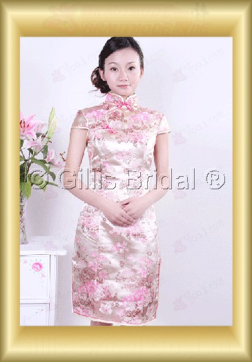 bridesmaid mother of the Knee length High Collar Short sleeve modest 100369