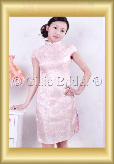 bridesmaid mother of the Knee length High Collar Short sleeve modest 100371