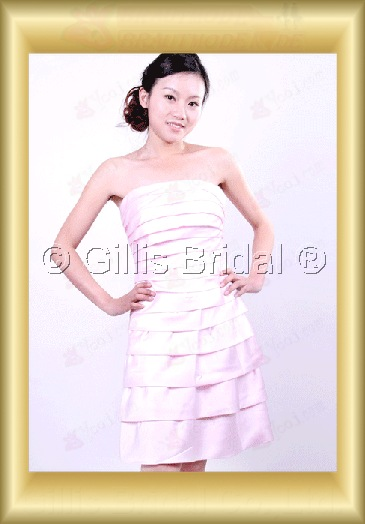 bridesmaid Homecoming Party Knee length pleated ruffle Fold Simple 100379