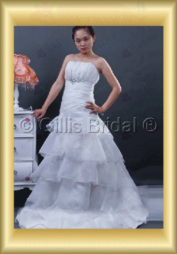wedding dress bridal gown evening Beading embroidery pleated ruffle Fold Monarch Royal Exquisite 100384