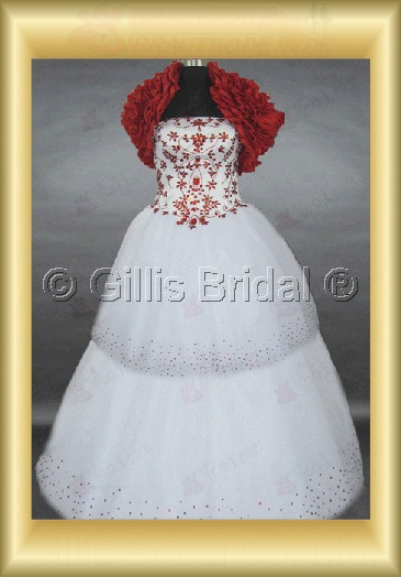 wedding dress bridal gown Beading embroidery Strapless Gorgeous floor-length Exquisite 100420