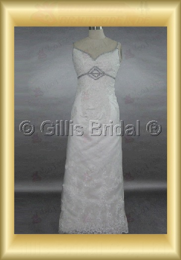 wedding dress bridal gown Beading embroidery Spaghetti strap Gorgeous floor-length Exquisite 100427