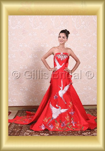 Beading embroidery wedding dress bridal gown Strapless Monarch Royal Exquisite 100560