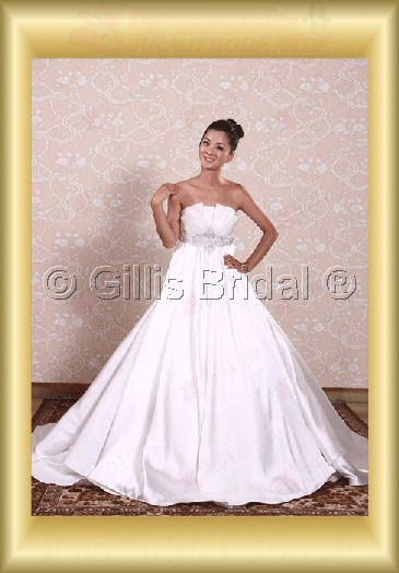 wedding dress bridal gown Beading embroidery pleated ruffle Fold Monarch Royal Exquisite 100561