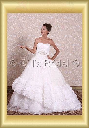 wedding dress bridal gown Strapless Gorgeous floor-length Beading embroidery Exquisite 100562