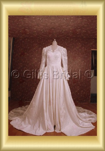 wedding dress bridal gown sleeve One-shoulder Monarch Royal Exquisite 100569