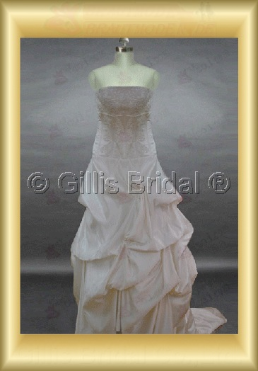 wedding dress bridal gown Beading embroidery Contoured Monarch Royal Exquisite 100573