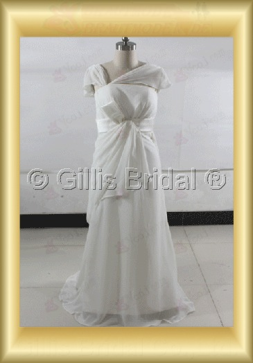 wedding dress bridal gown Bowknot Bows floating tablets Sweep Brush Exquisite 100581