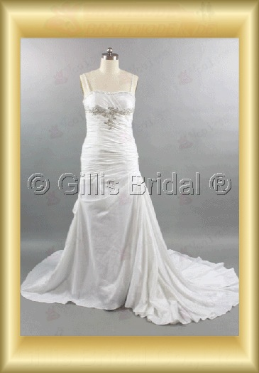 wedding dress bridal gown Beading embroidery pleated ruffle Fold Monarch Royal Exquisite 100585