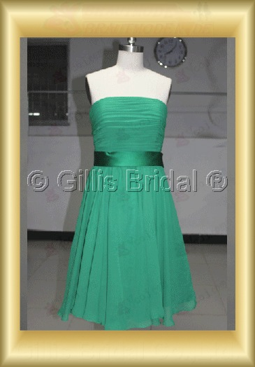 bridesmaid Knee length pleated ruffle Fold Exquisite 100592