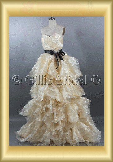 pleated ruffle Fold Flouncing floating tablets Flower Sweep Brush Exquisite wedding dress 100693
