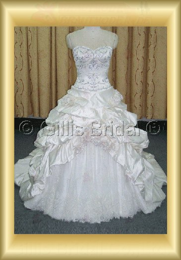 wedding dress bridal gown Beading embroidery Gorgeous floor-length Exquisite 100760