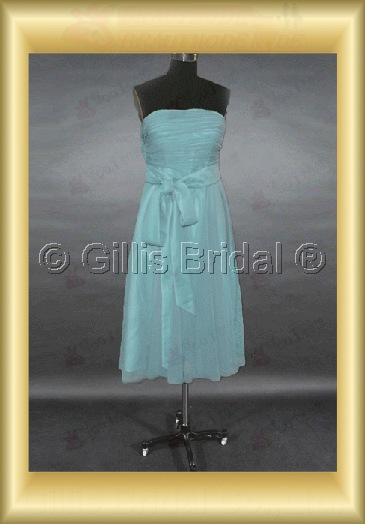 bridesmaid Knee length pleated ruffle Fold Exquisite Fashion 100764