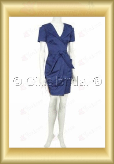 bridesmaid Bowknot Bows Knee length Short sleeve Knee length Exquisite 100765