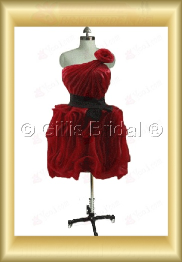 bridesmaid Knee length pleated ruffle Fold Exquisite 100773