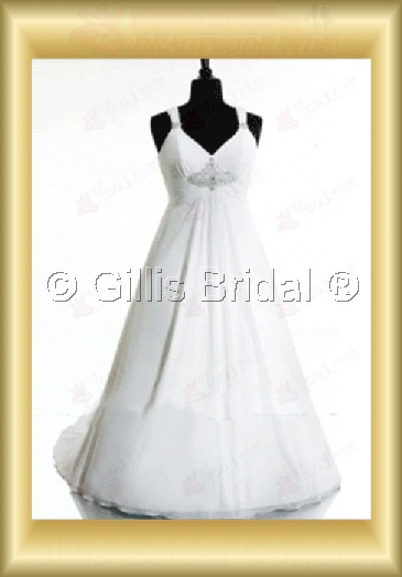 wedding dress bridal gown Beading embroidery Spaghetti strap Monarch Royal Exquisite 100776