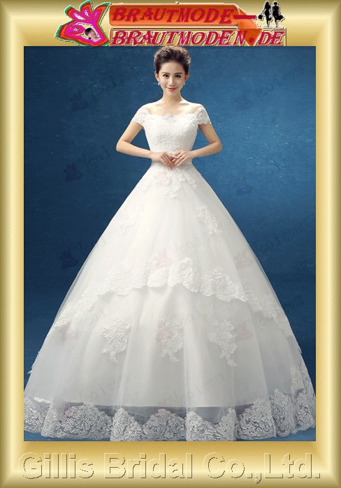 wedding dress bridal gown One-shoulder pleated ruffle Fold Sweep Brush Exquisite 100780
