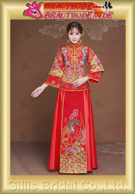 gillis2716 Dragon coat show Wo clothing bride dress wedding dress Chinese wedding suits