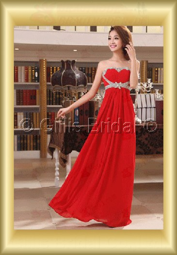 Chiffon pleated ruffle Fold beads Embroidery beaded Beading embroidery Floor-length A-line Exquisite 3626