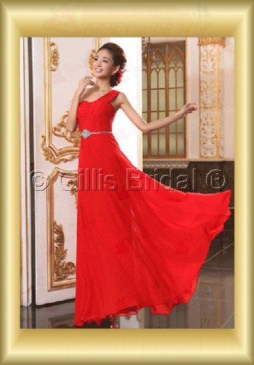 Chiffon pleated ruffle Fold beads Embroidery beaded Beading embroidery Off-the-shoulder Floor-length A-line Exquisite 3629
