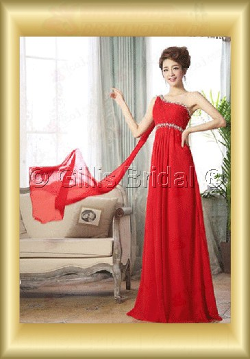 Chiffon pleated ruffle Fold beads Embroidery beaded Beading embroidery Off-the-shoulder Floor-length A-line Exquisite 3630