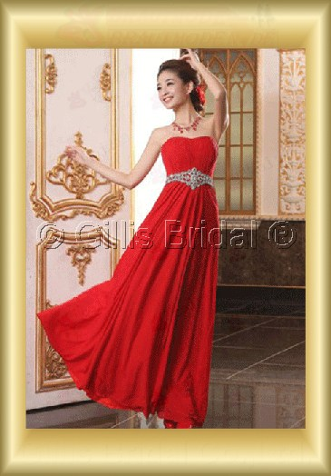 Chiffon pleated ruffle Fold beads Embroidery beaded Beading embroidery Floor-length A-line Exquisite 3633