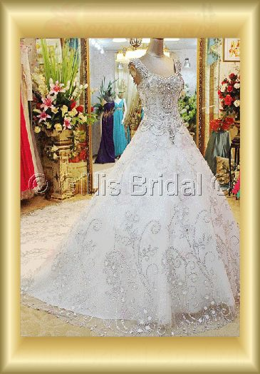 Organza lace beads Embroidery beaded Beading embroidery Off-the-shoulder Monarch Royal Exquisite 3660