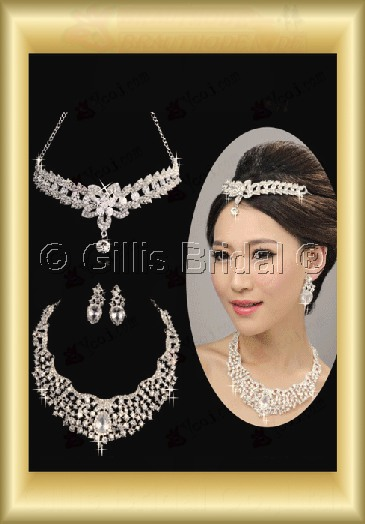 Jewelry sparkle Accessories Necklace Wedding Jewelry Sets 3684