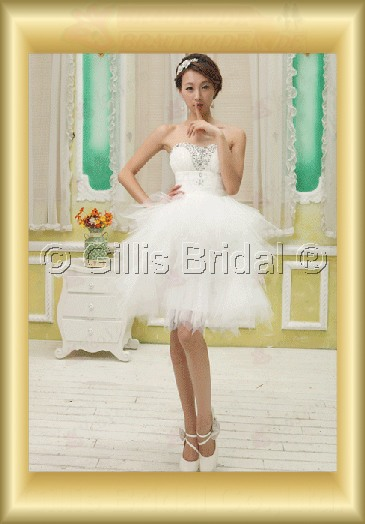 Organza pleated ruffle Fold beads Embroidery beaded Beading embroidery Knee length A-line Exquisite 3782