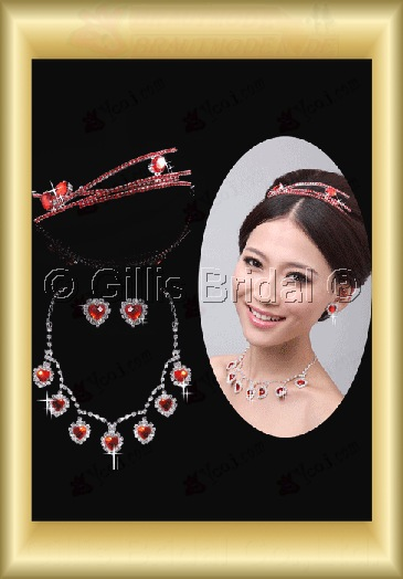 Crown Necklace Wedding Jewelry Sets Wedding Accessories 3903