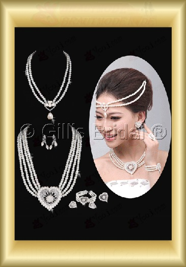 Crown Necklace Wedding Jewelry Sets Wedding Accessories 3906