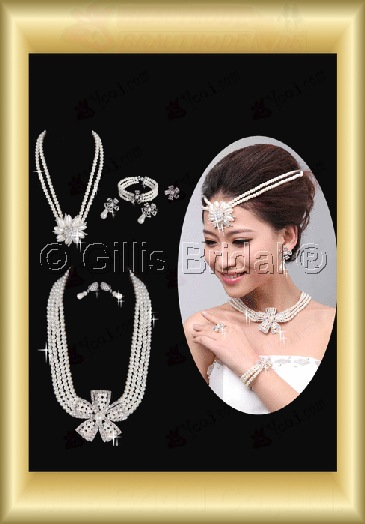 Crown Necklace Wedding Jewelry Sets Wedding Accessories 3908