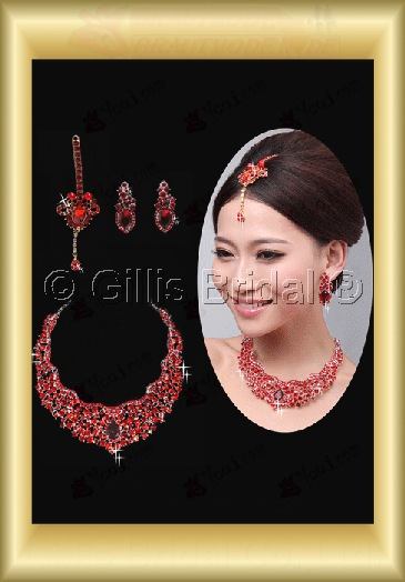 Crown Necklace Wedding Jewelry Sets Wedding Accessories 3919