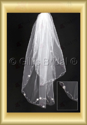Applique appliqued appliques Veil Bridal Accessories Bridal Veils 4055